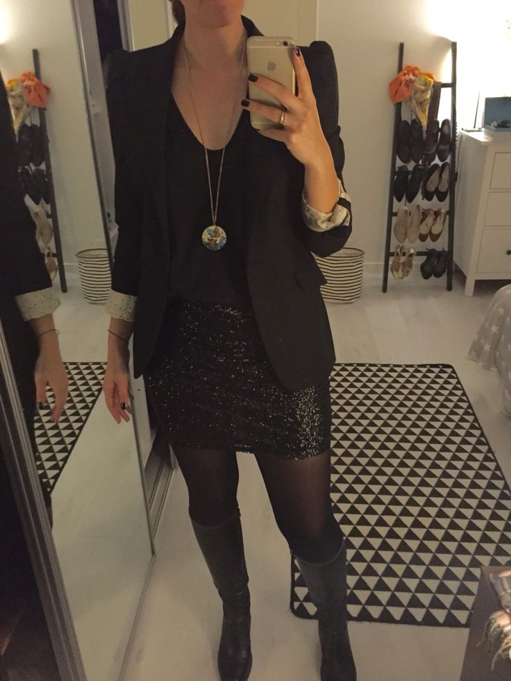 Outfit for A girls night out - love this skirt