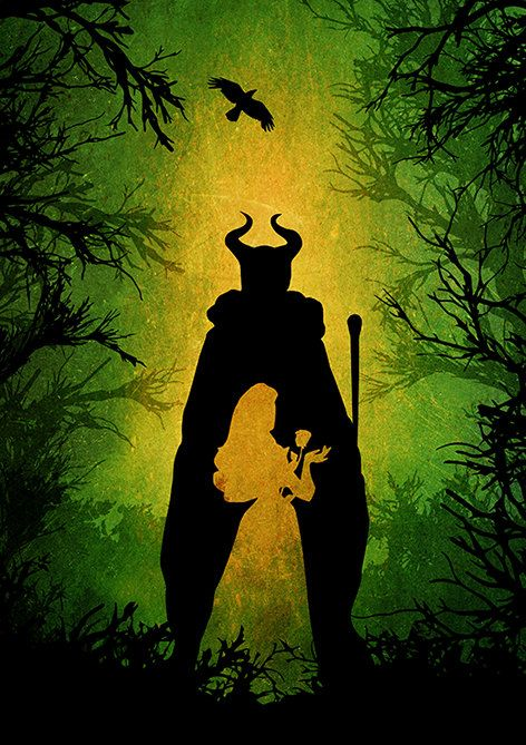 Disney Maleficent Minimalist Movie Poster by moonposter on Etsy