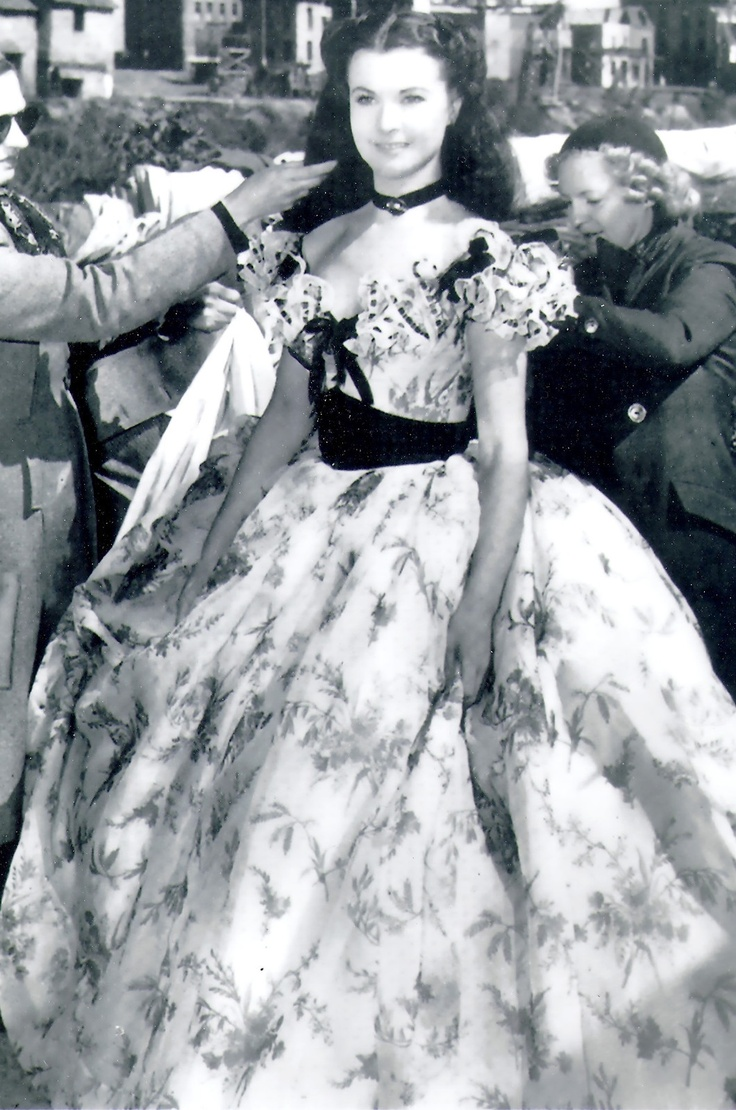"Vivien Leigh on the set of ""Gone With the Wind"", 1939"