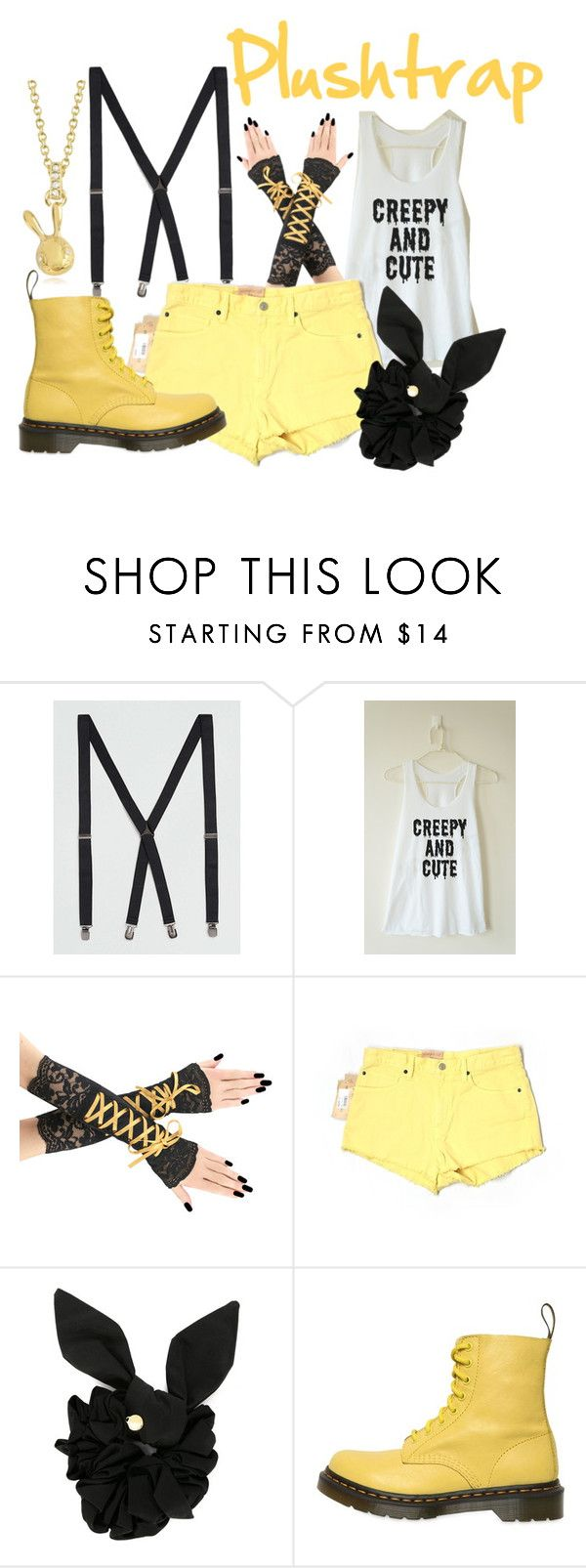 """Plushtrap (FNAF)"" by danielleweaver267 ❤ liked on Polyvore featuring Topman, Denim & Supply by Ralph Lauren, Marc by Marc Jacobs, Dr. Martens, fnaf, fivenightsatfreddys, fnaf4 and plushtrap"