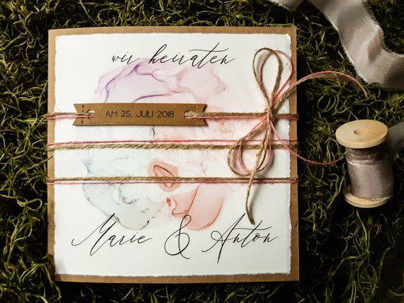 HOCHZEITS-EINLADUNG VINTAGE-BOHO | Hochzeitseinladung | Stärke Papier | Aufsatz von Bill | Altes Rosa | Hochzeitskarten | Seide 2   – Hochzeit