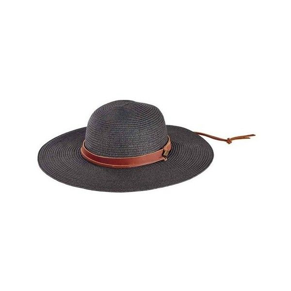 Men's San Diego Hat Company Round Crown Paperbraid Sun Hat SDH3016 ($55) ❤ liked on Polyvore featuring men's fashion, men's accessories, men's hats, black, mens wide brim sun hat, mens beach hats, mens sun hat and mens sunhats