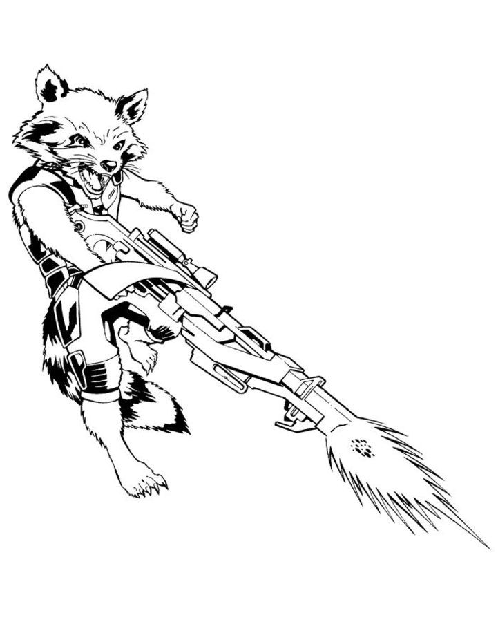 Coloring Pages Coloring Pages Rocket Raccoon Printable For Kids