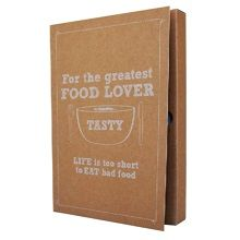 The Gift Label Notitieboek A5 - For The Greatest Food Lover