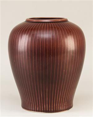 Vare: 3726098Nils Thorsson Aluminia, Marselis vase i okseblodsglasur