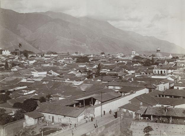 Panorama of Caracas, Venezuela circa 1900.