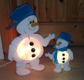 """Kerzen & Beleuchtung - Schneemann """"Frosty"""" mit Kochtopf bele... - ein…"""