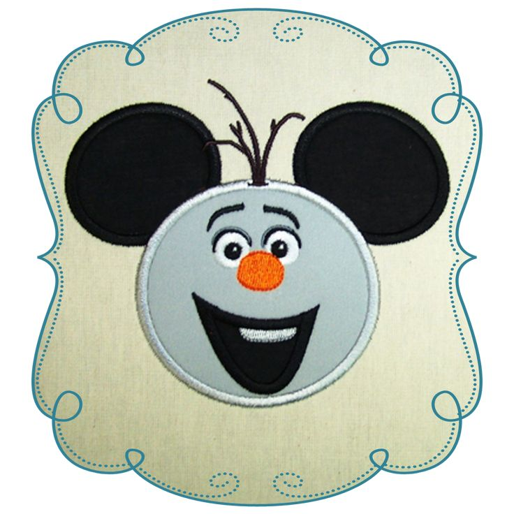 Olaf Snowman Applique