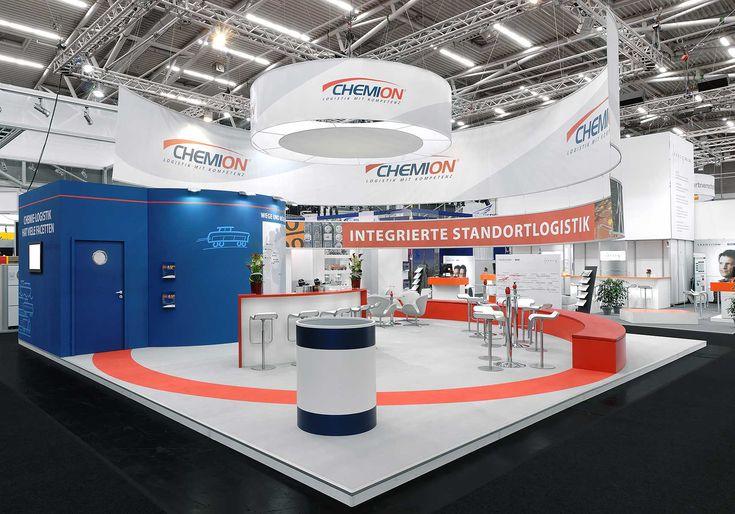 Die Chemion Logistik GmbH deckt als Komplettanbieter das gesamte Spektrum des logistischen Services in der Chemie- und chemienahen Industrie ab. Unsere Messedesigner entwickelten den neuen Messeauftritt der Chemion Logistik GmbH aus Leverkusen zur transport logistic in München.