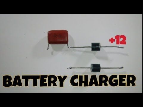 Battery Charger using only Diode and capacitor - YouTube