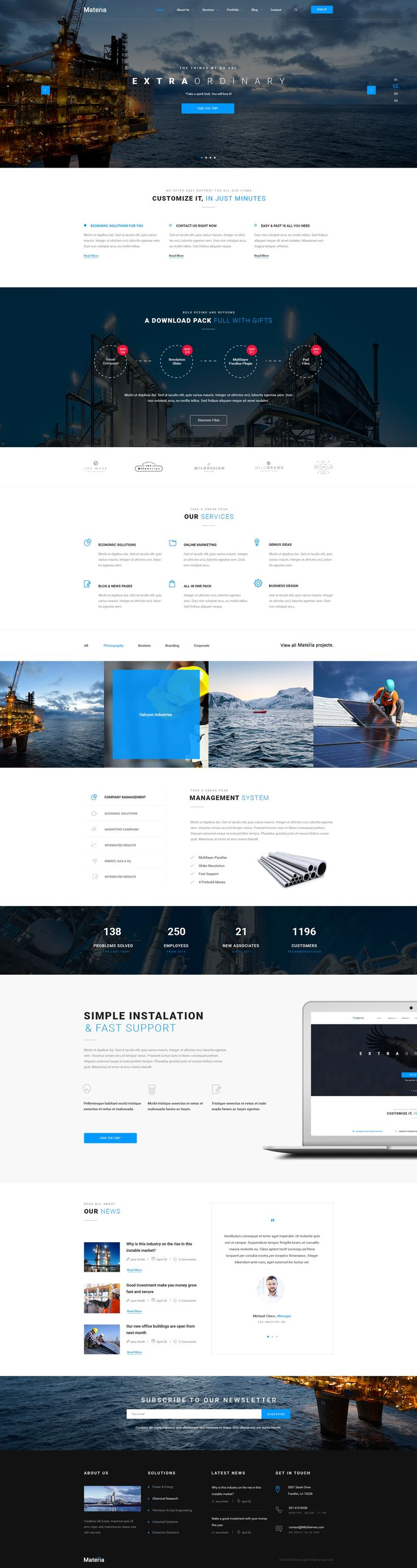 Materia Consortium PSD Template - Download theme here : http://themeforest.net/item/materia-consortium-psd-template/16603700?ref=pxcr