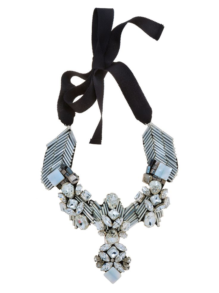 RIENNE Rimini Necklace from Designrs.co  Get on trend fast with this statement luxurious necklace with crystals, glass beads and amazing mother of pearl.