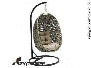 Подвесное ротанговое кресло Cora серое Garden4You