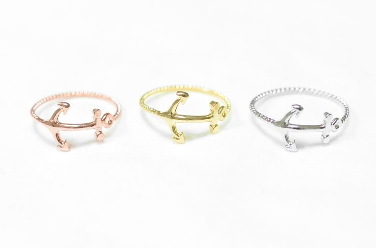 Our Anchor Ring - Bague Ancre Marine   In Stock - €10.00