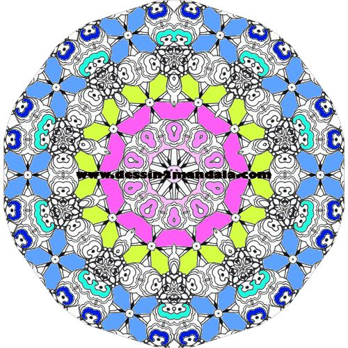 coloriage de mandala a imprimer numero 32 #mandala #coloriage #adulte via dessin2mandala.com