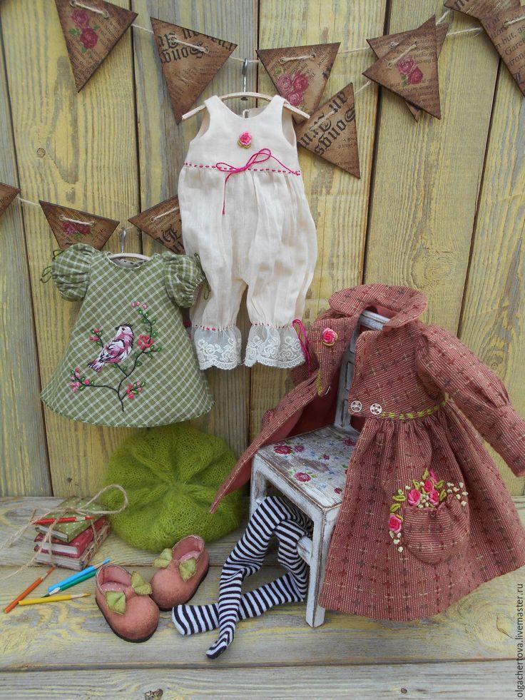 Купить МАЛЫШКА в пальтишке - комбинированный, кукла в пальто, кукла ручной работы, кукла в подарок