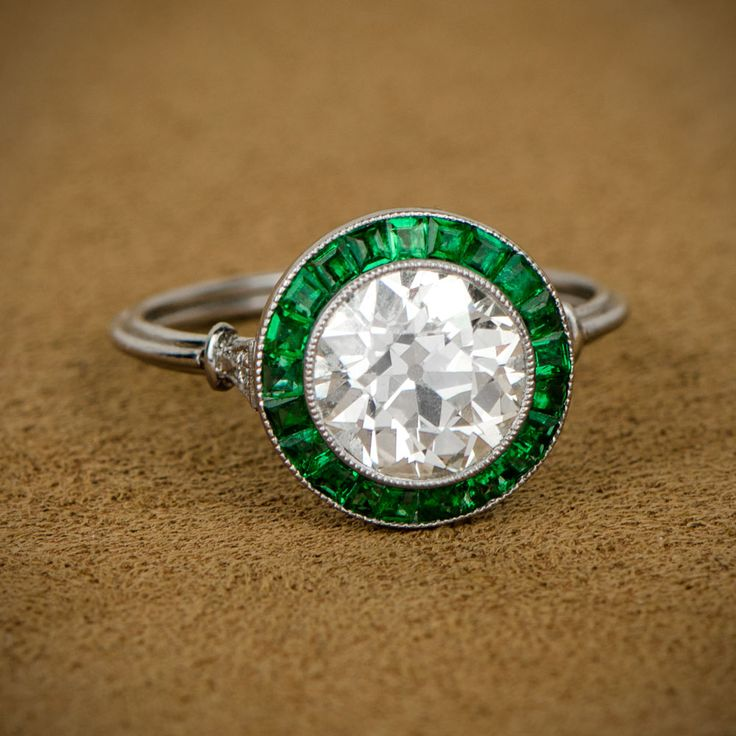 Auburndale Ring Art Deco Diamond Deco Engagement Ring