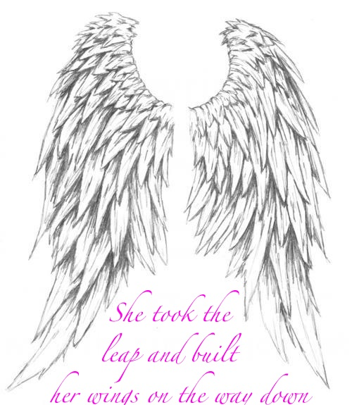 She took the leap & built her wings on the way down...