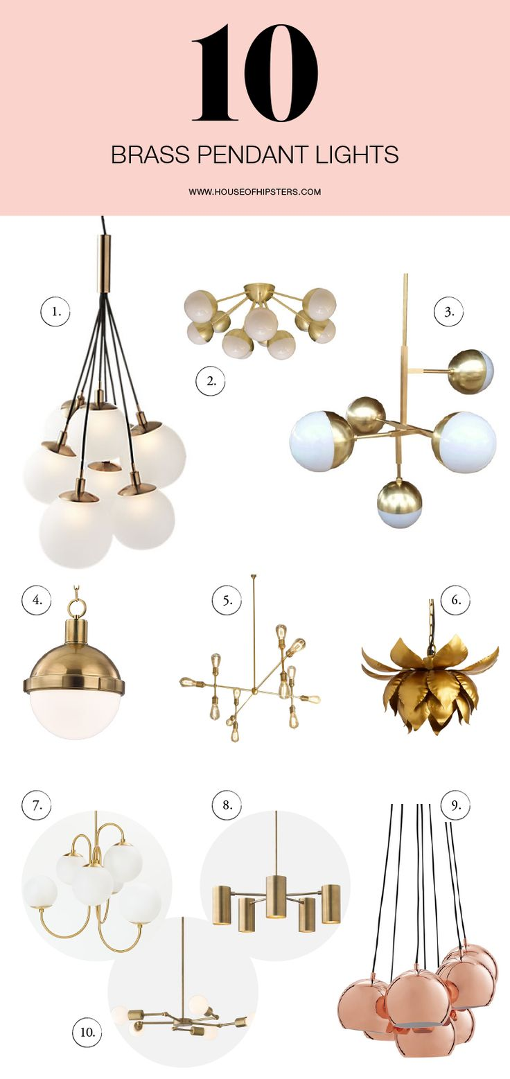 Shopping for brass lighting for your home decor? From modern to midcentury modern, we are sourcing where to buy the latest trends in brass pendant lighting today on House Of Hipsters. Click to read more. Pin for inspiration.