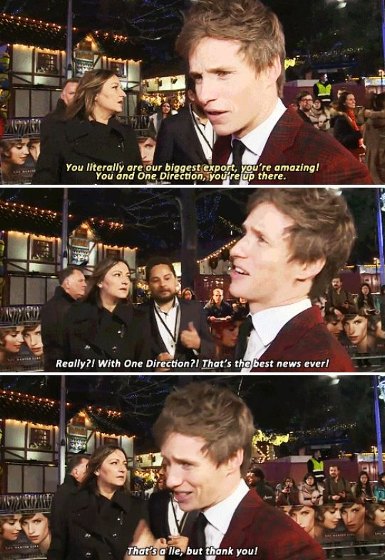 And, finally, when he had the most quintessentially British response to being told he's a national treasure. | 23 Times Eddie Redmayne Was A Gift We Didn't Deserve