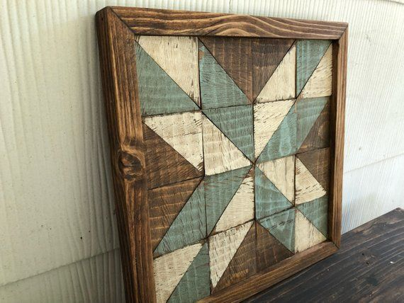 Barn Quilt Barn Star Wooden Barn Quilt Mosaic Weathered Wood