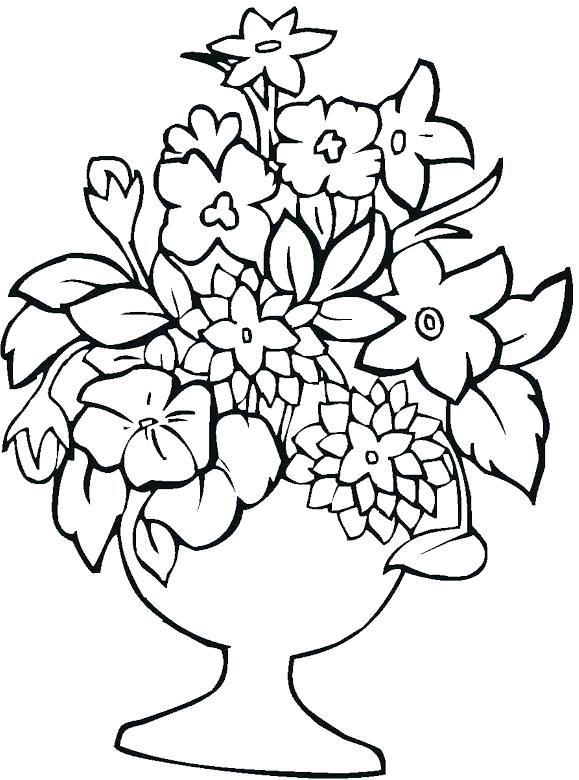 Flower Vase Coloring Page Flower Vase Coloring Pages Picture Of Printable Flower Coloring Pages Cool Coloring Pages Flower Coloring Pages