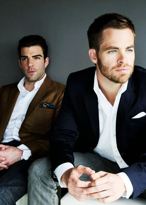 Zachary Quinto and Chris Pine - Thank you Star Trek for bringing these two delicious men together for one glorious cinematic experience.