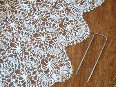 Hairpin lace scarf by CynContemporarie, lovely