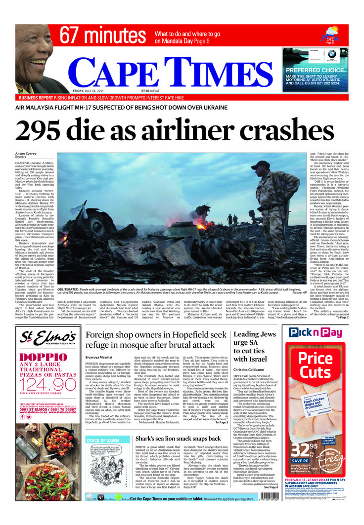 News making headlines: 295 die as airline crashes