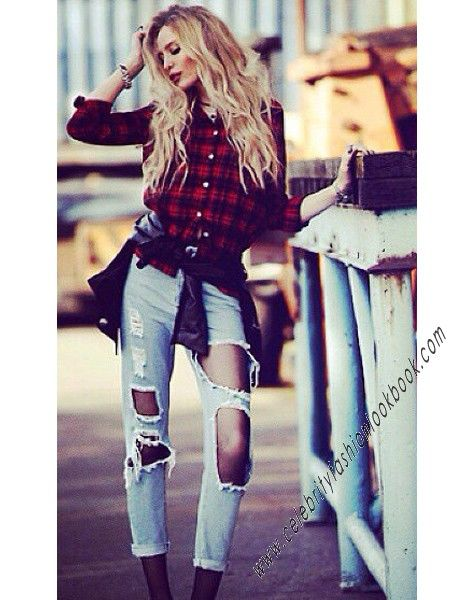 Extreme Cut Out Skinnies - Jeans - Bottoms - Clothing US$44.99 Free shipping worldwide  #fashion #jeans #denim #ripped