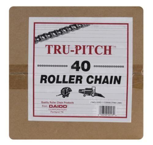 "Tru-Pitch TRC40-MD Roller Chain 1/2"" x 10', Steel"