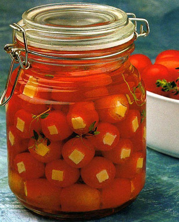 Conservas - Tomates cherry con queso fontina