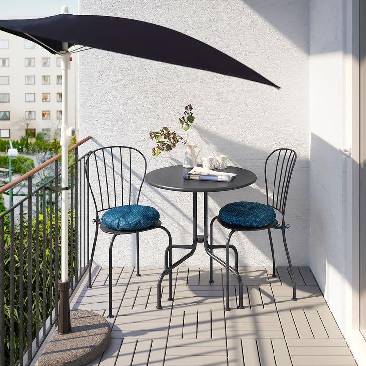 LÄCKÖ Bistro set, outdoor gray IKEA in 2020 Ikea