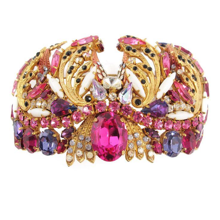 Hanna Bernhard Signed Multi-Dimensional Crown Brooch