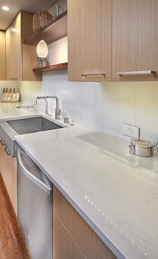 frost carina caesarstone  South Land Park Open Plan Nar