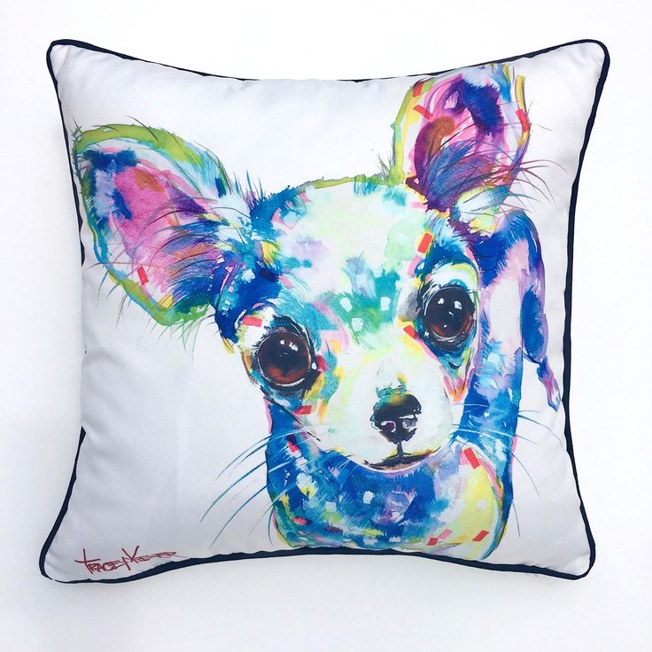 Chihuahua Indoor/Outdoor Cushion Cover - Tracey Keller