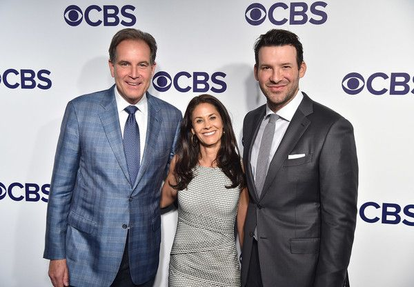 Tony Romo Photos Photos - Jim Nantz, Tracy Wolfson and Tony Romo attend the 2017 CBS Upfront on May 17, 2017 in New York City. - 2017 CBS Upfront