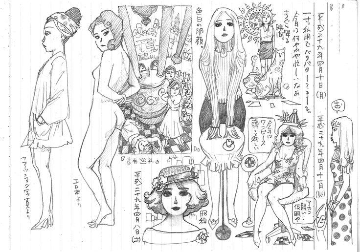 THE SEIJI pencil Diary20170411 girl art drawing illustration