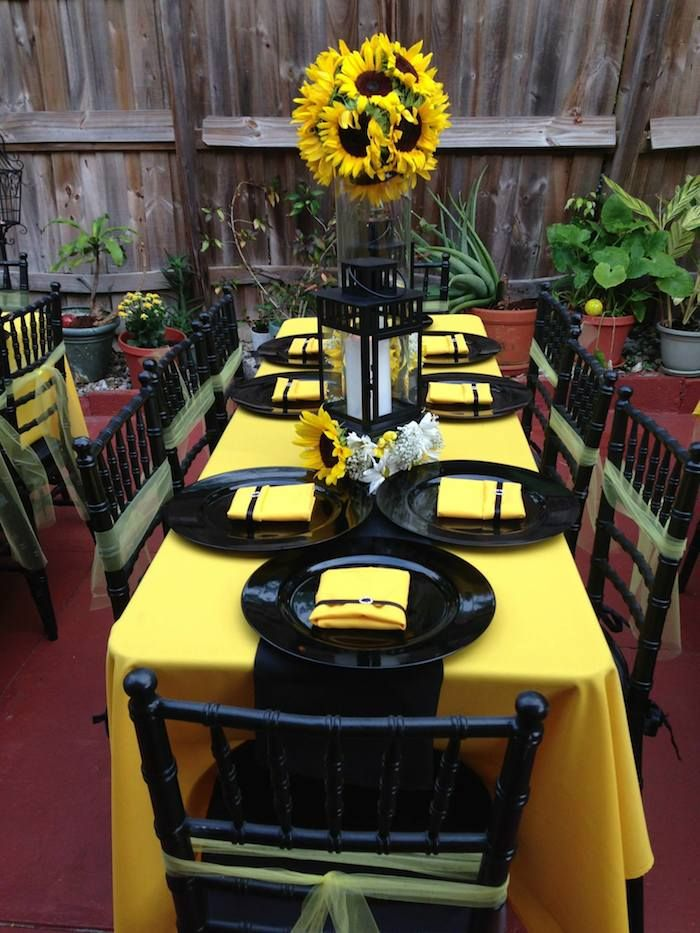 Bee Themed Baby Shower with So Many ADORABLE IDEAS via Kara's Party Ideas | KarasPartyIdeas.com #beeparty #beebabyshower #genderneutralbabys...