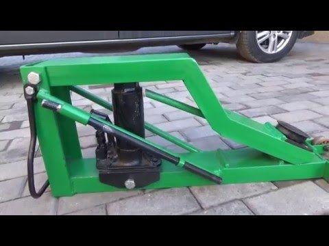 Гидравлический подкатной домкрат своими руками - YouTube