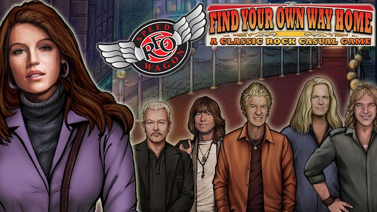 """Find Your Own Way Home, a first-of-its-kind video game product by Dhruva Interactive aimed at the worldwide audience of  """"casual gamers"""" and fans of the classic rock band, REO Speedwagon."""