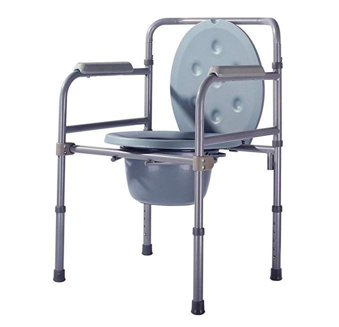 Simple Seat Toilet Chair Elderly People Pregnant Women Disabled Toilet Toilet Seat Chair Steel Chair 90x53x49cm Rev Hospital Furniture Steel Chair Toilet Chair
