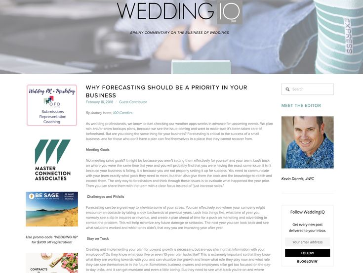 100 Candles on Wedding IQ | Why Forecasting Should Be a Priority In Your Business