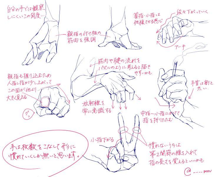 個人的手の描き方 [1]                                                                                                                                                                                 もっと見る