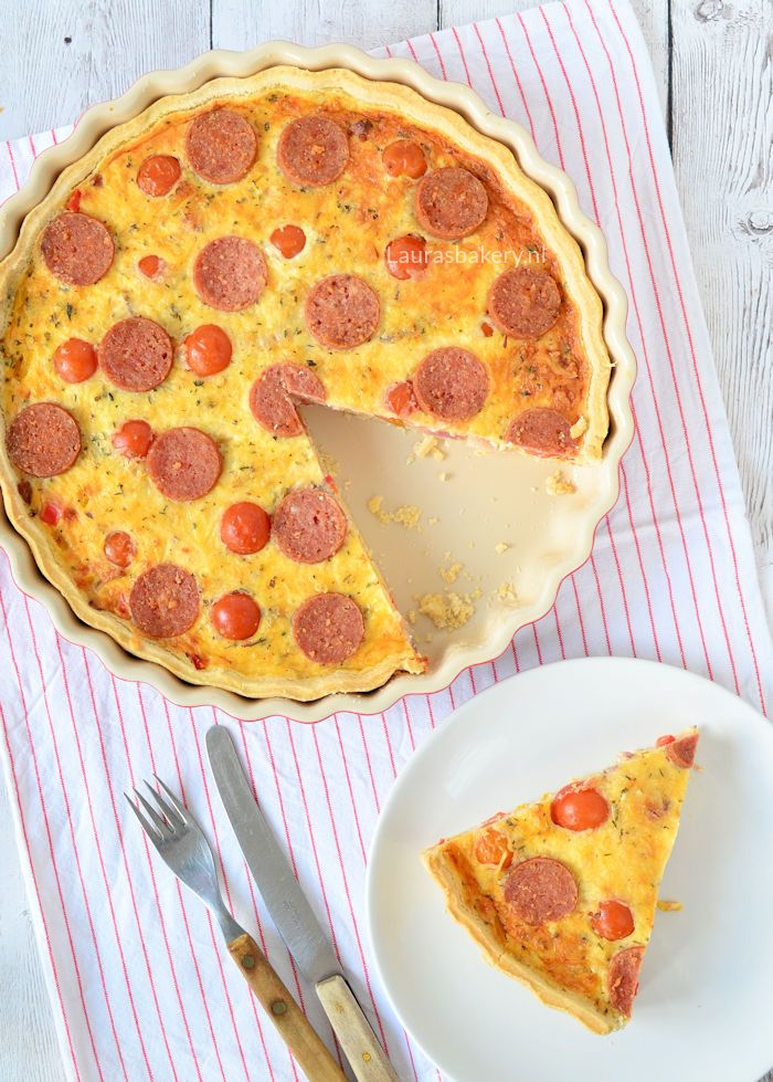 Pizza salami quiche - Laura's Bakery