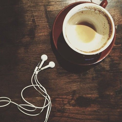 Coffee and tunes!  Thanks @laprice08