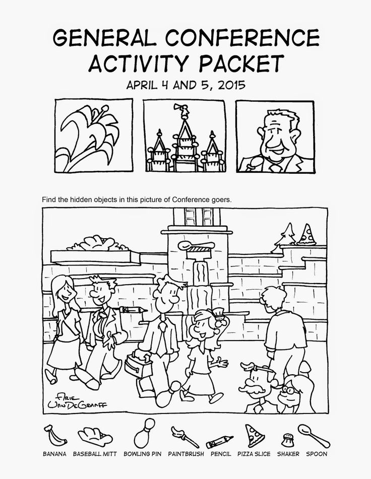 Mormon Cartoonist: Your April 2015 General Conference Activity Packet