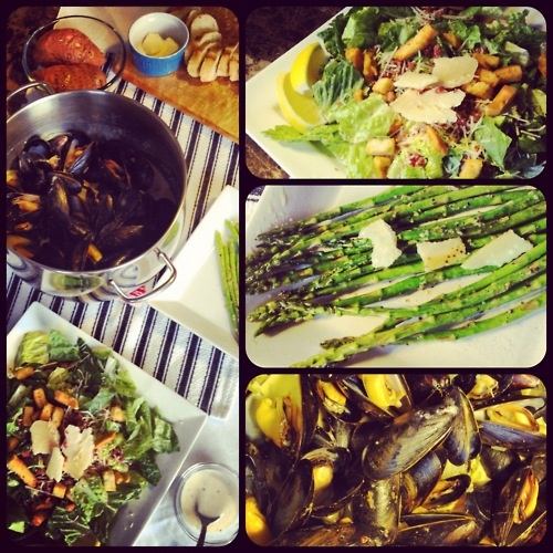 Mussel Monday!!  Get your shellfish on!! Mussels from The Fish Shop in the Halifax Seaport Farmers Market, Halifax, NS!!