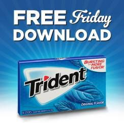 Kroger FREE Friday Download: FREE Trident Singles Gum on http://www.icravefreebies.com/