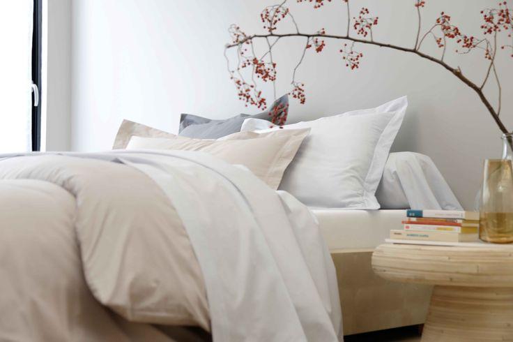 linge de lit en percale collection blancheporte maison linge de maison pinterest linge. Black Bedroom Furniture Sets. Home Design Ideas
